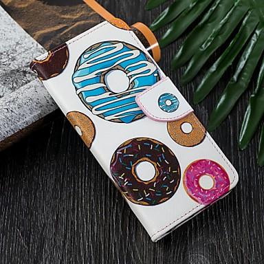 Недорогие Чехлы и кейсы для Galaxy S6-Кейс для Назначение SSamsung Galaxy S9 / S9 Plus / S8 Plus Кошелек / Бумажник для карт / со стендом Чехол Продукты питания Твердый Кожа PU
