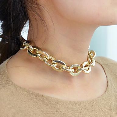 billige Mode Halskæde-Dame Belcher Kædehalskæde Mode Moderne Sej Guld 32 cm Halskæder Smykker 1pc Til Daglig