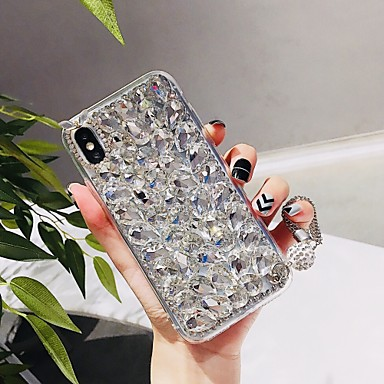 voordelige iPhone 7 hoesjes-hoesje Voor Apple iPhone XS / iPhone XR / iPhone XS Max Strass Achterkant Tegel Hard TPU