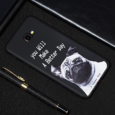 voordelige Galaxy J-serie hoesjes / covers-hoesje Voor Samsung Galaxy J7 Prime / J7 (2017) / J5 Prime Mat / Patroon Achterkant Hond Zacht TPU