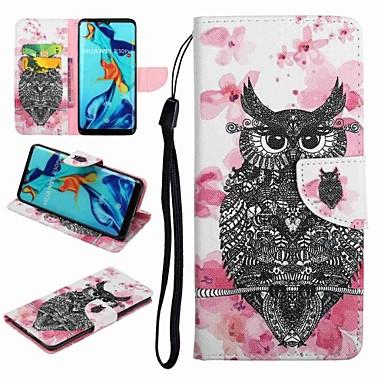 voordelige Huawei Y-serie hoesjes / covers-hoesje Voor Huawei Honor 9 / Honor 8 / Huawei Honor 7 Kaarthouder / met standaard / Flip Volledig hoesje dier / Cartoon Hard PU-nahka