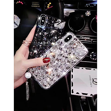 voordelige iPhone X hoesjes-hoesje Voor Apple iPhone XS / iPhone XR / iPhone XS Max Strass Achterkant Tegel / dier Hard TPU