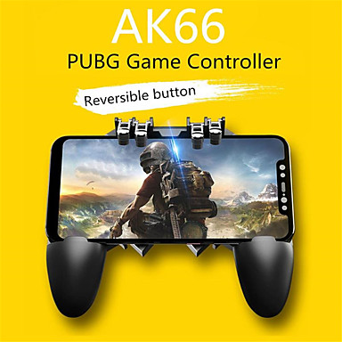 cheap Video Game Accessories-Gamepads AK66 Six Finger All-in-One Mobile Phone Game Controller Free Fire Key Button Joystick Gamepad L1 R1 Trigger for PUBG