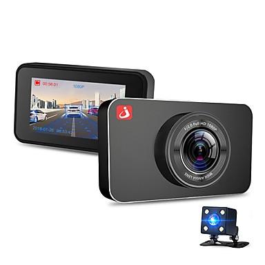 billige Nyheter-JUNSUN H9 1080p / 2160p HD / Dual Lens / Oppstart automatisk opptak Bil DVR 170 grader Bred vinkel Omnivisjon OV 4689 3 tommers IPS Dash Cam med Night Vision / G-Sensor / Bevegelsessensor Bilopptaker