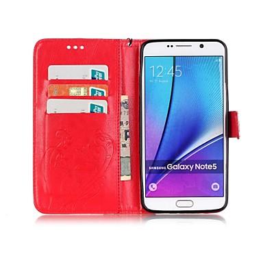 voordelige Galaxy Note 5 Hoesjes / covers-hoesje Voor Samsung Galaxy Note 9 / Note 8 / Note 5 Portemonnee / Kaarthouder / met standaard Volledig hoesje Vlinder Hard PU-nahka