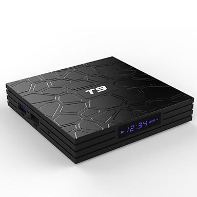pulierde t9 android 9.0 tv box t9 rkchip quadcore usb 3.0 4k set top box 2.4 جرام / 5 جرام المزدوج wifi 4 جيجابايت 64 جيجابايت مشغل الوسائط الذكية