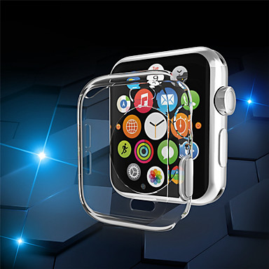 Недорогие Кейсы для Apple Watch-Кейс для Назначение Apple Apple Watch Series 4 Силикон Apple