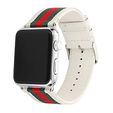 Недорогие Ремешки для Apple Watch-Ремешок для часов для Серия Apple Watch 5/4/3/2/1 Apple Спортивный ремешок Нейлон / Натуральная кожа Повязка на запястье