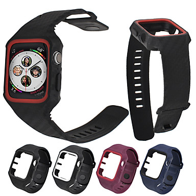 Недорогие Ремешки для Apple Watch-Ремешок для часов для Apple Watch Series 4/3/2/1 Apple Современная застежка силиконовый Повязка на запястье
