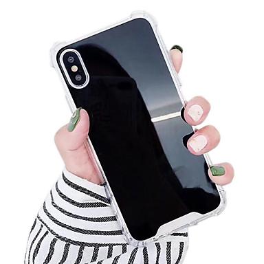 voordelige iPhone 6 hoesjes-hoesje Voor Apple iPhone XS / iPhone XR / iPhone XS Max Schokbestendig / Waterbestendig / Spiegel Achterkant Effen Hard TPU