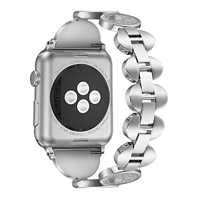 billige Smarturstilbehør-Urrem for Apple Watch Series 4/3/2/1 Apple Smykkedesign Metal Håndledsrem