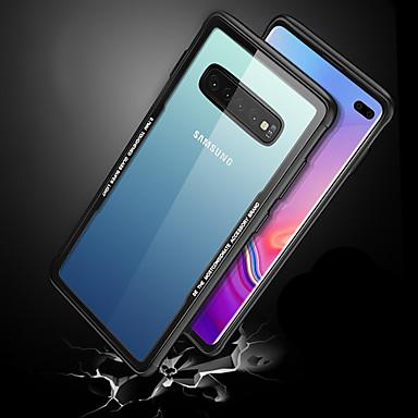 voordelige Galaxy S-serie hoesjes / covers-hoesje Voor Samsung Galaxy Galaxy S10 / Galaxy S10 Plus / Galaxy S10 E Schokbestendig / Ultradun / Transparant Achterkant Transparant Hard Gehard glas