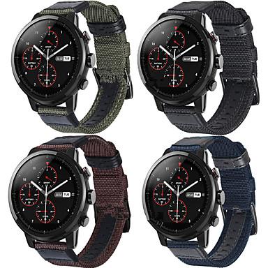 voordelige Smartwatch-accessoires-Horlogeband voor Huami Amazfit A1602 / Huami Amazfit Pace Watch / Huami Amazfit Stratos Smart Watch 2/2S Xiaomi Sportband Leer / Nylon Polsband