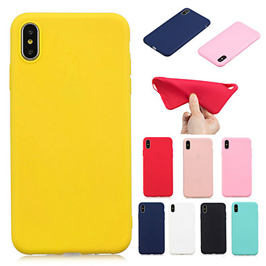 voordelige iPhone 5 hoesjes-hoesje voor apple iphone xs iphone xs max telefoonhoesje tpu materiaal candy serie effen kleur telefoonhoesje voor iphone xr x 8 plus 7 plus 8 7 6s plus 6 plus 6s 6 5s 5 se