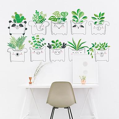 frisk tegneserie søde potteplanter aftagelige pvc væg klistermærker - væg væg klistermærker transport / landskab studie værelse / kontor / spisestue / køkken
