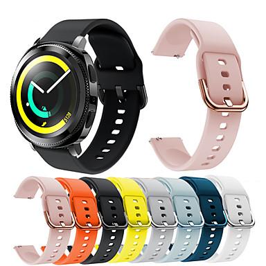 voordelige Smartwatch-accessoires-Horlogeband voor Gear Sport / Gear S2 Classic Samsung Galaxy Sportband Silicone Polsband