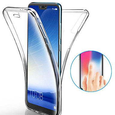 cheap Huawei Case-Case For Huawei Huawei P20 / Huawei P20 Pro / Huawei P20 lite Shockproof / Ultra-thin / Transparent Full Body Cases Solid Colored Soft TPU / P10 Plus / P10 Lite / P10
