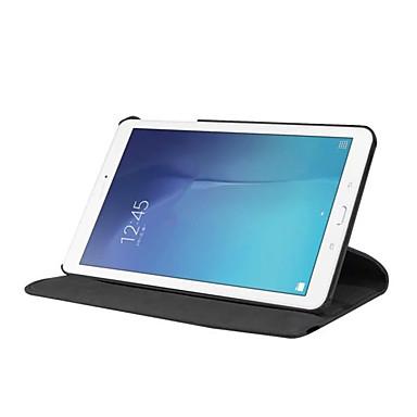voordelige Samsung Tab-serie hoesjes / covers-hoesje Voor Samsung Galaxy Tab E 9.6 360° rotatie / Schokbestendig / met standaard Volledig hoesje Effen Hard PU-nahka
