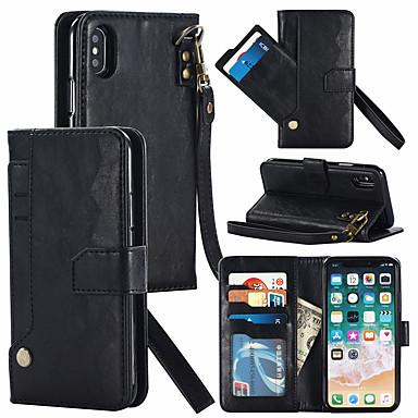 Недорогие Кейсы для iPhone-кошелек чехол для iphone xr съемная кожаная магнитная пряжка тонкий чехол