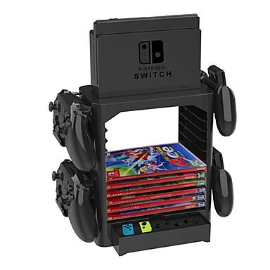 olcso Nintendo Switch Accessories-állványkészletek / fogantyútartó a Nintendo kapcsolóhoz, kreatív állványkészletek / fogantyú konzol PVC (polivinil-klorid) 1 db egység