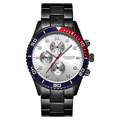 levne Pánské-CURREN Pánské Sportovní hodinky japonština Japonské Quartz Černá / Bílá 30 m Voděodolné Hodinky na běžné nošení Analogové Módní - Černá Černobílá Černá / Bílá