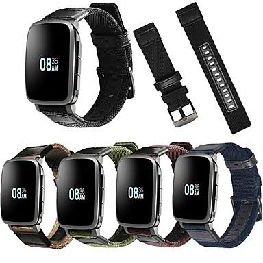 voordelige Smartwatch-accessoires-Horlogeband voor Pebble Time / Pebble Time Steel Pebble Sportband Leer / Nylon Polsband