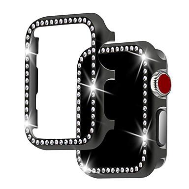 Недорогие Кейсы для Apple Watch-Корпус для яблок Apple Watch серии 4/3/2/1 с металлической защитной оболочкой Diamond Watch Apple
