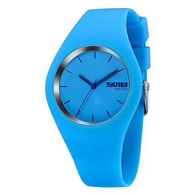 Χαμηλού Κόστους Ανδρικά ρολόγια-SKMEI Ανδρικά Αθλητικό Ρολόι Χαλαζίας Κομψό σιλικόνη Μαύρο / Λευκή / Μπλε 30 m Ανθεκτικό στο Νερό Καθημερινό Ρολόι Αναλογικό Καθημερινό Υπαίθριο - Μπλε Ροζ Μπλε Απαλό