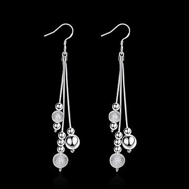 billige Damesmykker-Dame Dråpeøreringer Dusk Ball Stilfull Enkel Sølvplett øredobber Smykker Sølv Til Daglig Arbeid 1 par