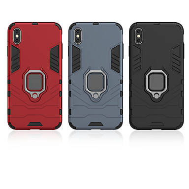 voordelige iPhone X hoesjes-case voor apple ring auto anti-fall mobiele telefoon case voor iphone5 / 5s / 5c / 6 / 6s / 6 plus / 6 splus / 7/8/7 plus / 8 plus / x / xr / xs / xsmax