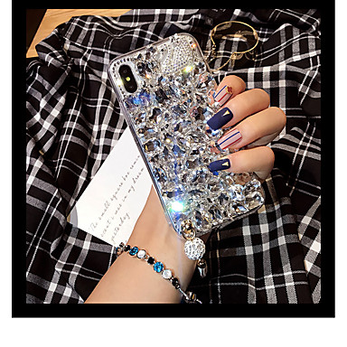 voordelige iPhone X hoesjes-hoesje Voor Apple iPhone XS / iPhone XR / iPhone XS Max Strass Achterkant Effen Hard Acryl
