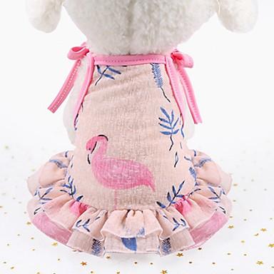 tanie Ubranka i akcesoria dla psów-Psy Koty Sukienka Smoking Ubrania dla psów Zwierzę Kwiatowy / Roślinny Gwiazdki Fioletowy Różowy Siateczka Kostium Na Beagle Shiba inu Mops Lato Kobieta Moda Śłodkie