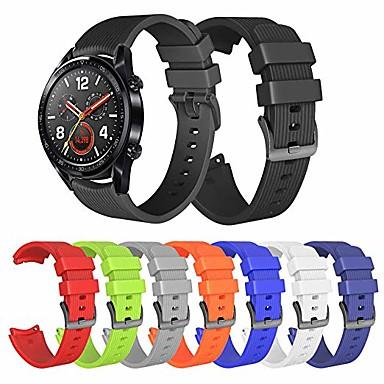 Недорогие Ремешки для часов Huawei-Ремешок для часов для Huawei Watch Huawei Спортивный ремешок силиконовый Повязка на запястье
