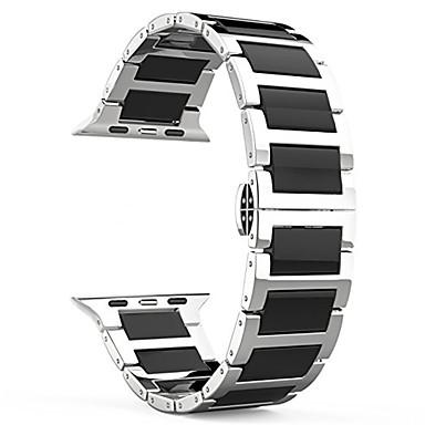 Недорогие Ремешки для Apple Watch-Ремешок для часов для Apple Watch Series 4/3/2/1 Apple Бабочка Пряжка Нержавеющая сталь / Керамика Повязка на запястье