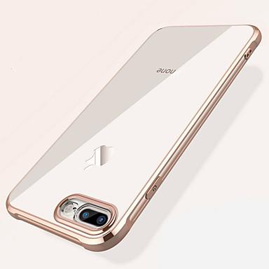 voordelige iPhone-hoesjes-hoesje Voor Apple iPhone XS / iPhone XR / iPhone XS Max Schokbestendig / Beplating / Transparant Achterkant Effen Zacht TPU