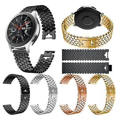 voordelige Horlogebandjes voor Samsung-Horlogeband voor Gear S3 Frontier / Gear S3 Classic / Gear 2 R380 Samsung Galaxy Sportband Roestvrij staal Polsband