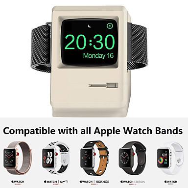 voordelige Apple Watch-bevestigingen & -houders-oplader in retrostijl oplaadstation dock laadstation met nachtmodus voor Apple iwatch oplader 42mm / 38mm met kabelbeheer