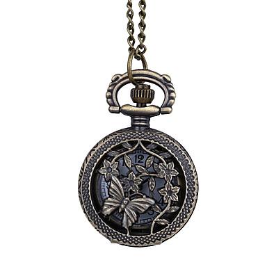 Χαμηλού Κόστους Ανδρικά ρολόγια-Ανδρικά Ρολόι Τσέπης Χαλαζίας Καφέ Δημιουργικό Νεό Σχέδιο Καθημερινό Ρολόι Αναλογικό Λουλούδι Καθημερινό - Καφέ