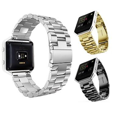 voordelige Smartwatch-accessoires-Horlogeband voor Fitbit Blaze Fitbit Butterfly Buckle Roestvrij staal Polsband