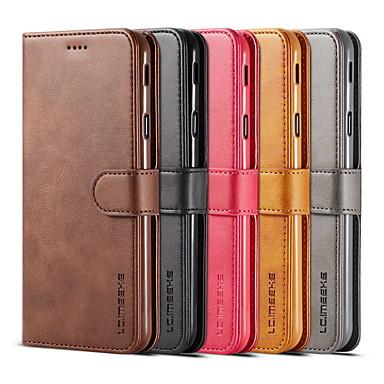 Недорогие Чехлы и кейсы для Galaxy A5-откидная крышка бумажник чехол для samsung galaxy a8 plus a5 2018 мода студенческий бизнес кожаный телефон защитный чехол для a5 a7 a8 a9 a40 a30 a50 a70