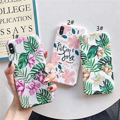 Недорогие Кейсы для iPhone-чехол для яблока iphone xr / iphone xs max выкройка / светящиеся в темноте задняя крышка цветочное мягкое тпу для iphone x xs 8 8plus 7 7plus 6 6plus 6s 6s plus