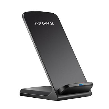 Недорогие Гаджеты для Samsung-10 Вт ци беспроводное зарядное устройство быстрая зарядка 2.0 быстрая зарядка для iphone 8 10 Samsung S6 S7 S8 2 катушки стенд 5 В / 2а&усилитель, усилитель; 9В / 1.67a
