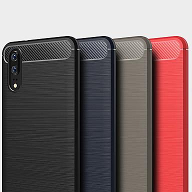 voordelige Huawei Mate hoesjes / covers-hoesje Voor Huawei Mate 10 / Mate 10 pro Schokbestendig / Stofbestendig / Waterbestendig Achterkant Effen / Lijnen / golven Zacht TPU / Hiilikuitu