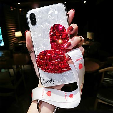 Недорогие Кейсы для iPhone-чехол для apple iphone xs / iphone xr противоударный задняя крышка цветок мягкий силикагель для iphone xs / iphone xr