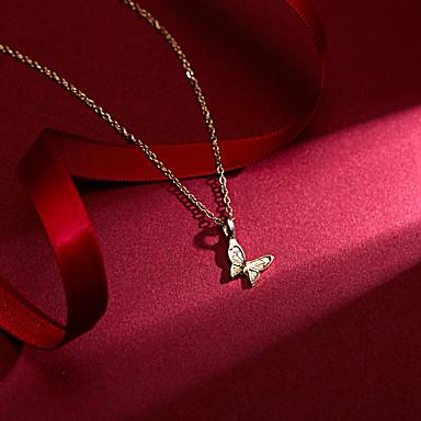 a27f6f987 levne Dámské šperky-Dámské Náhrdelník Charm náhrdelník Motýl Lahůdka  Jednoduchý Klasické Vintage Půvab Zlatá 46