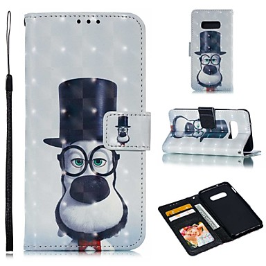 voordelige Galaxy S-serie hoesjes / covers-hoesje Voor Samsung Galaxy S9 / S9 Plus / S8 Plus Portemonnee / Kaarthouder / Schokbestendig Volledig hoesje Hond Hard PU-nahka