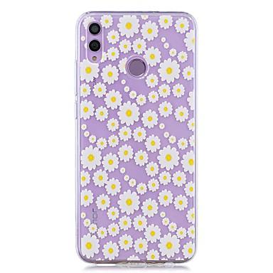 voordelige Huawei Y-serie hoesjes / covers-hoesje voor huawei honor 8x / huawei p smart (2019) patroon / transparante achterkant witte chrysanthemum zachte tpu voor mate20 lite / mate10 lite / y6 (2018) / p20 lite / nova 3i / p smart / p20 pro