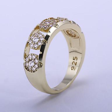Pentru femei Band Ring / Inel 1 buc Galben Piete Prețioase & Cristal / Articole de ceramică Geometric Shape Stilat / Lux Petrecere / Cadou / Zilnic Costum de bijuterii