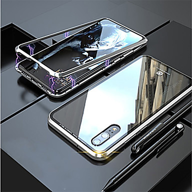 voordelige iPhone 6 Plus hoesjes-hoesje Voor Apple iPhone XS / iPhone XR / iPhone XS Max Magnetisch Achterkant Transparant Aluminium