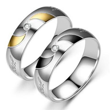 זול טבעות-בגדי ריקוד גברים טבעת הטבעת / טבעת / זנב טבעת 1pc זהב / שחור פלדת על חלד מעגלי בסיסי / אופנתי יומי / עבודה תכשיטי תלבושות